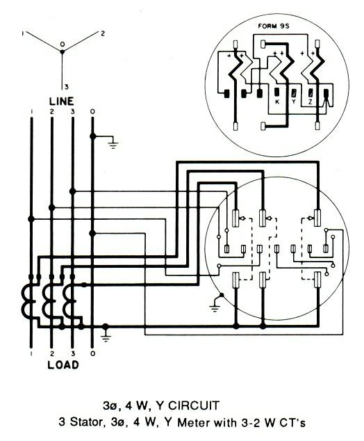 3 phase kwh meter connection diagram